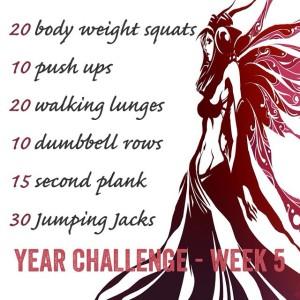 Year Challenge - Week 5