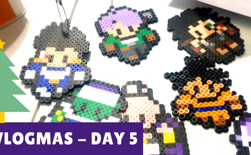 Vlogmas | Day 5 | How To Make Perler Bead Figures Tutorial